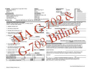How do I fill out an AIA G-702 & G-703 billing form?
