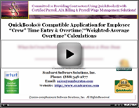Automatically calculates overtime in QuickBooks
