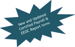 new and updated certified payroll & eeoc reports