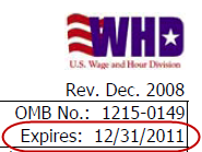 WH-347 form expired